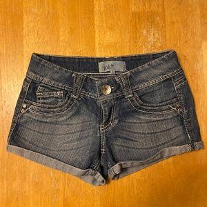 Jolt blue jean short shorts